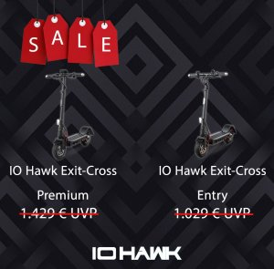 IO HAWK Exit-Cross Entry und Premium (B-Ware)