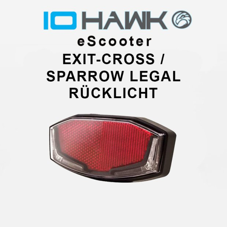 Rücklicht Exit Cross / Sparrow Legal